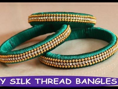 DIY Silk Thread Bangles making at Home