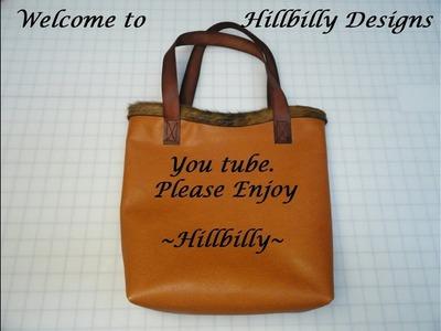 DIY Simple Leather Tote Bag Pt 1
