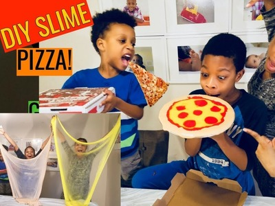 DIY Slime Pizza | Making Food Out of Slime | How to Make Slime