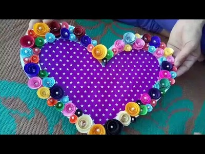 DIY:  Wall hanging tutorial.How to make photo frame. heart shape photo frame.Best birthday gift