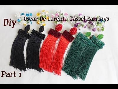 Diy Waterfall tassel earrings. Tassels earrings in the style of Oscar de la Renta. Part 1