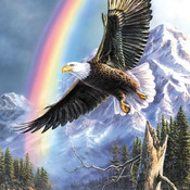Eagle Rainbow Cross Stitch Pattern***LOOK***X***INSTANT DOWNLOAD***