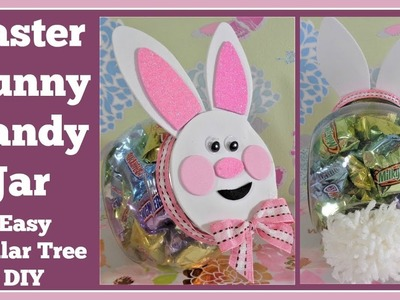 Easter Bunny Candy Jar???? Super Easy Dollar Tree DIY