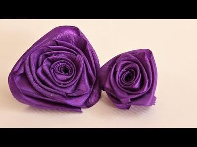 Easy Satin Ribbon FLOWER ideas| DIY