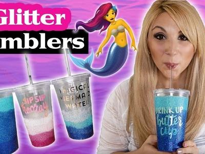 Episode 8 - DIY Mermaid Ombre Glitter Tumbler Tutorial