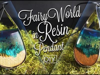 Fairy World in Resin Pendant  ???? DIY