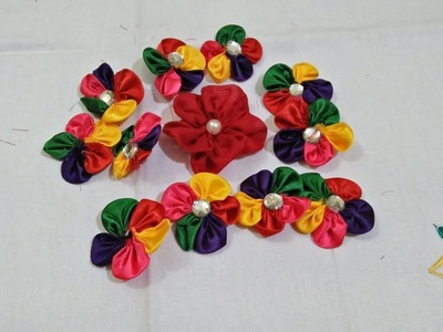 Flowers making from cloth leftovers | Best out of waste | DIY(Do It Yourself) | Type-1