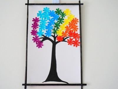 Hanging Wall Decor | Paper Flower Wall Hanging | DIY Art and Craft | DIY Handmade Wall Decor