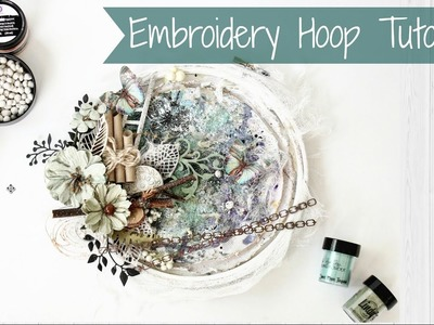 How To Alter Mixed Media Style Embroidery Hoop | DIY | Easy Tutorial | Aola DIY