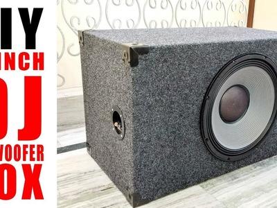 "How to Build 15"" DJ Subwoofer Box | DIY ( Hindi Electronics ) ELECTRO INDIA"
