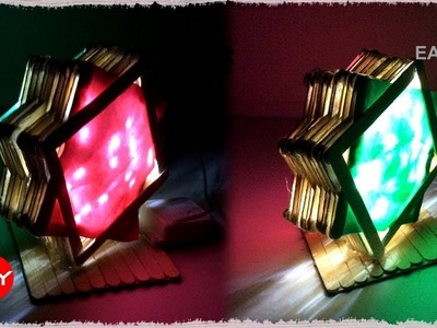 How to make a colorful night lamp | DIY Home Tutorial | Easy Craft Play