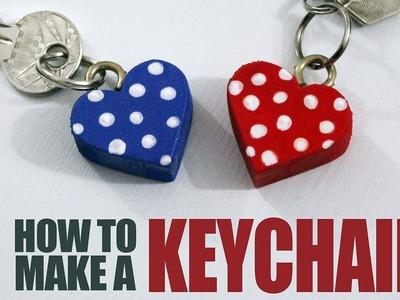 How to make a Keychain - DIY Heart Keychains