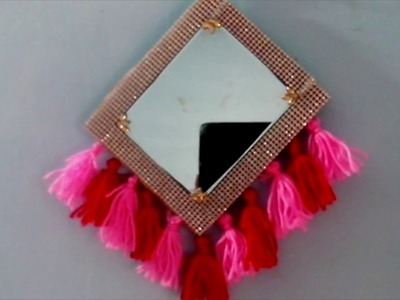 How to make  a mirror wall hanging.DIY mirror wall hanging. DIY doller tree mirror  wall art.