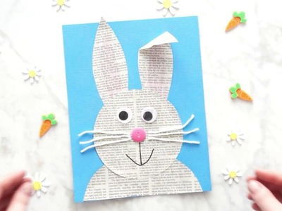 How to Make a Newspaper Bunny Easter Craft