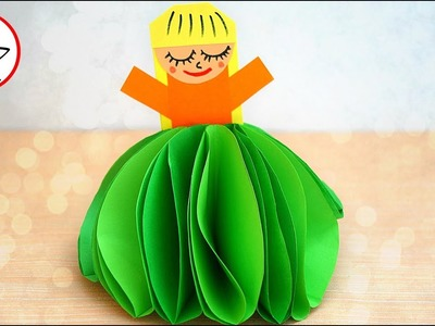 How to make a paper doll (VERY EASY) | DIY crafts for kids | Maison Zizou