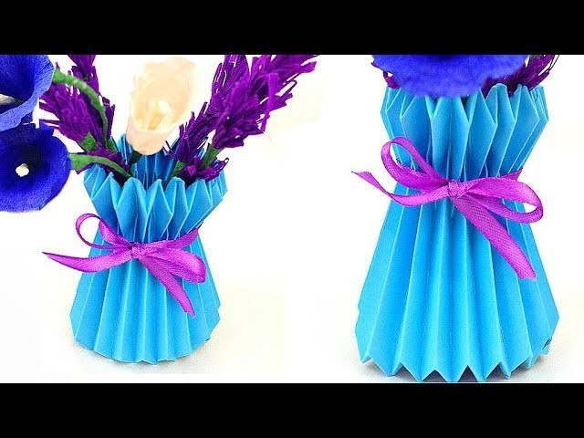 How To Make A Paper Flower Vase Diy Easy And Simple Way Paper Craft