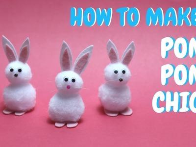 How to Make a Pom Pom Bunny   Easter Craft Ideas