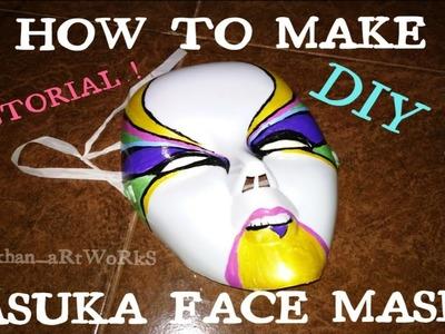 How To Make Asuka Face Mask |Tutorial | Diy !