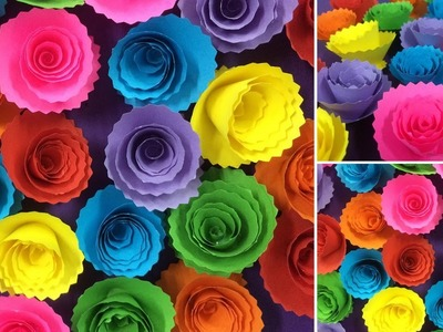 How to Make Beautiful Paper Rose Flower   Making Paper Flowers   DIY-Paper Crafts