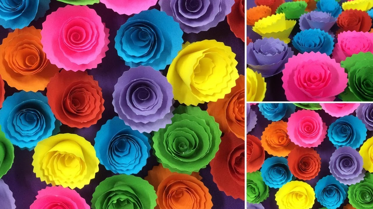 How to make beautiful paper rose flower making paper flowers diy how to make beautiful paper rose flower making paper flowers diy paper crafts mightylinksfo
