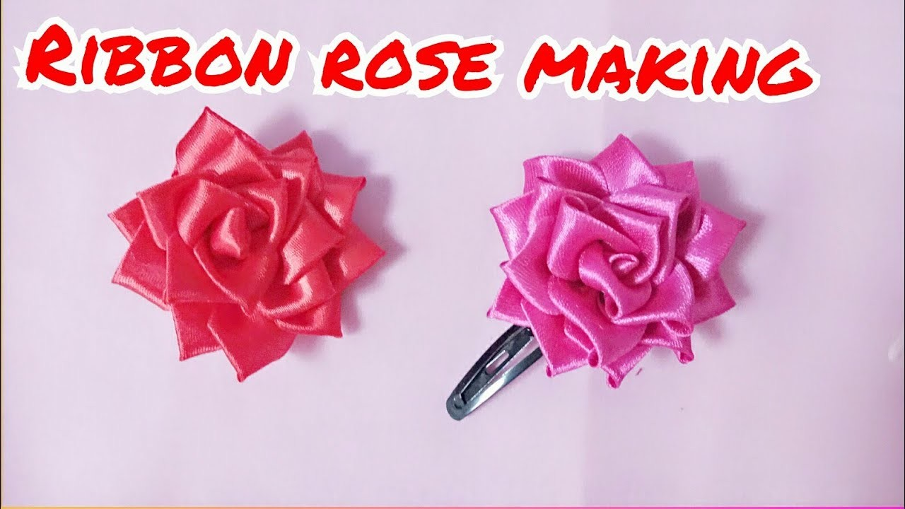 How To Make Beautiful Ribbon Rose