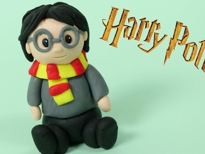 How to make fondant Harry Potter cake topper. DIY Harry Potter figure