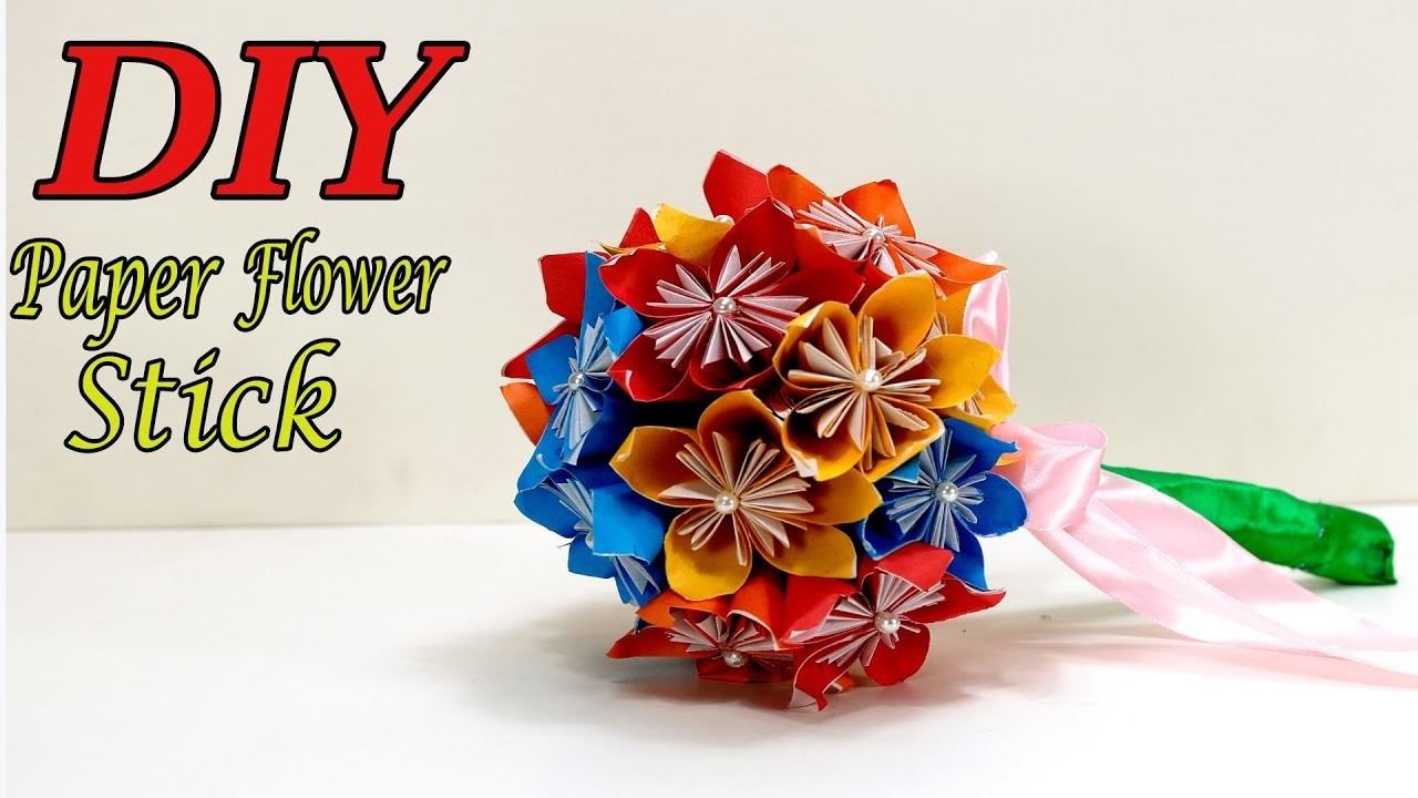 How To Make Origami Paper Flower Wedding Bouquet Craft Tutorial