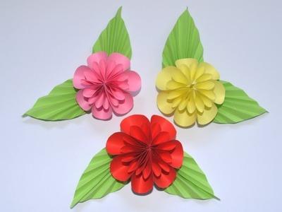 How to make paper flower | DIY Flower Tutorial