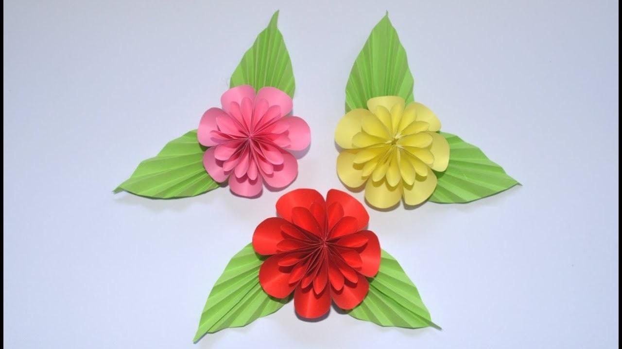 How to make paper flower   DIY Flower Tutorial