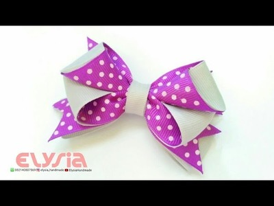 How To Make : Polkadot Hair Bow | DIY by Elysia Handmade
