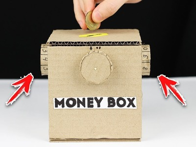How to Make Safe Coin Box with Password from Cardboard | DIY Money Box
