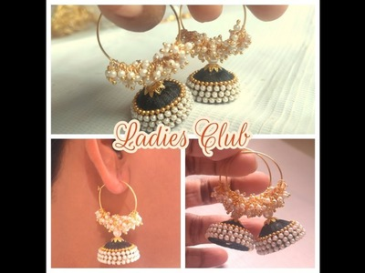 How To Make Silk Thread Jhumkas Hoop Style I Ring Style Silk Thread Jhumkas I Silk Thread Jewellery
