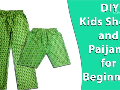 How to sew Shorts and paijama for kids, DIY Hindi tutorial for beginners wit subtitles