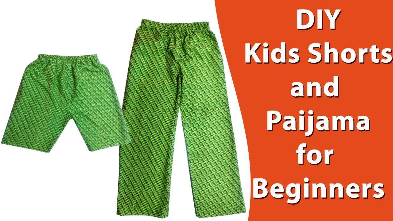 Kids Shorts and Paijama ( night Dress )DIY Malayalam tutorial, easy method for beginners