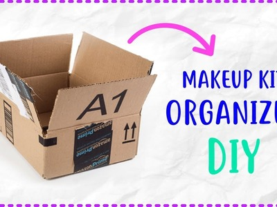 Makeup Organizer DIY from Waste Amazon Box Craft | Best Out of Waste Craft Ideas | Waste Box Ideas