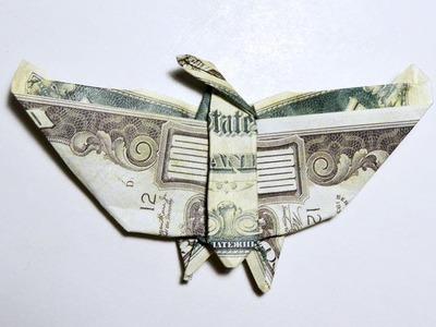 Money EAGLE Origami Dollar Tutorial DIY Folded No glue and tape