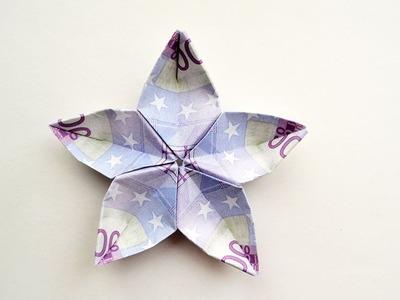 Money SAKURA EURO Origami Tutorial DIY Folded No glue and tape