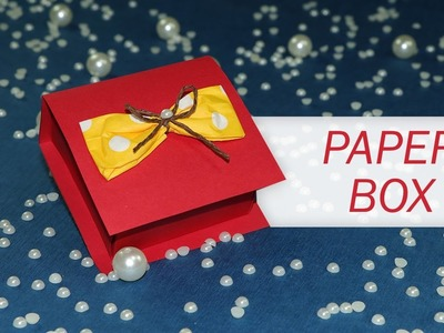 Paper Box Craft - How to Make A Paper Box That Opens And Closes