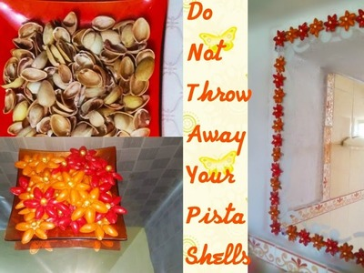 Pista Shell Craft How to make a simple flower with pista shells