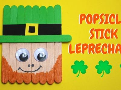 Popsicle Stick Leprechaun | St Patrick's Day Craft
