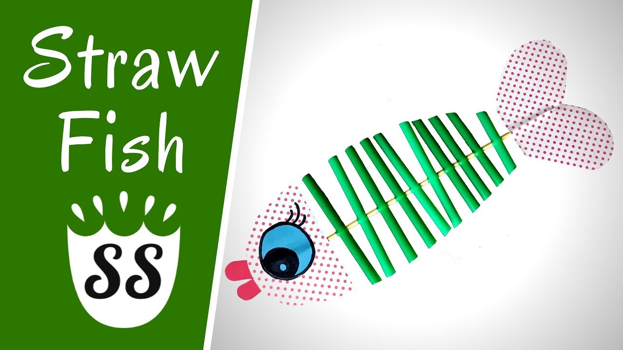 Straw Fish Crafts For Kids How To Make An Easy Fish Craft