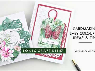 Tonic Craft  kit # 7 with Bibi | Easy coloring ideas and tips