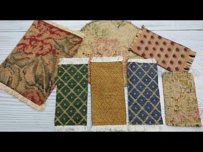 Tree Dollhouse Part 30 Fabric Rugs DIY and Updates