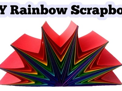 Tutorial : DIY Rainbow Scrapbook | Handmade Birthday Scrapbook |