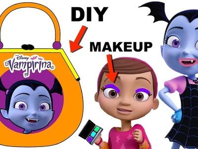 Vampirina Tries on Makeup DIY PAPER PURSE CRAFT GAME w. Surprise Toys + Num Noms Series 5