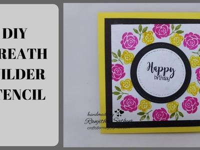 WREATH BUILDER CARD .  DIY easy wreath builder stencil