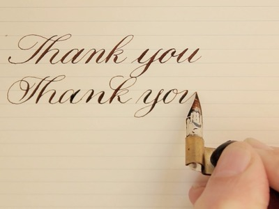4 ways | how to write thank you | calligraphy, modern calligraphy, cursive