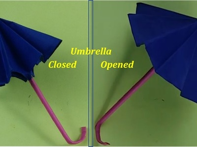 Art Valley | Origami Art| How to make an amazing paper umbrella which can open and close