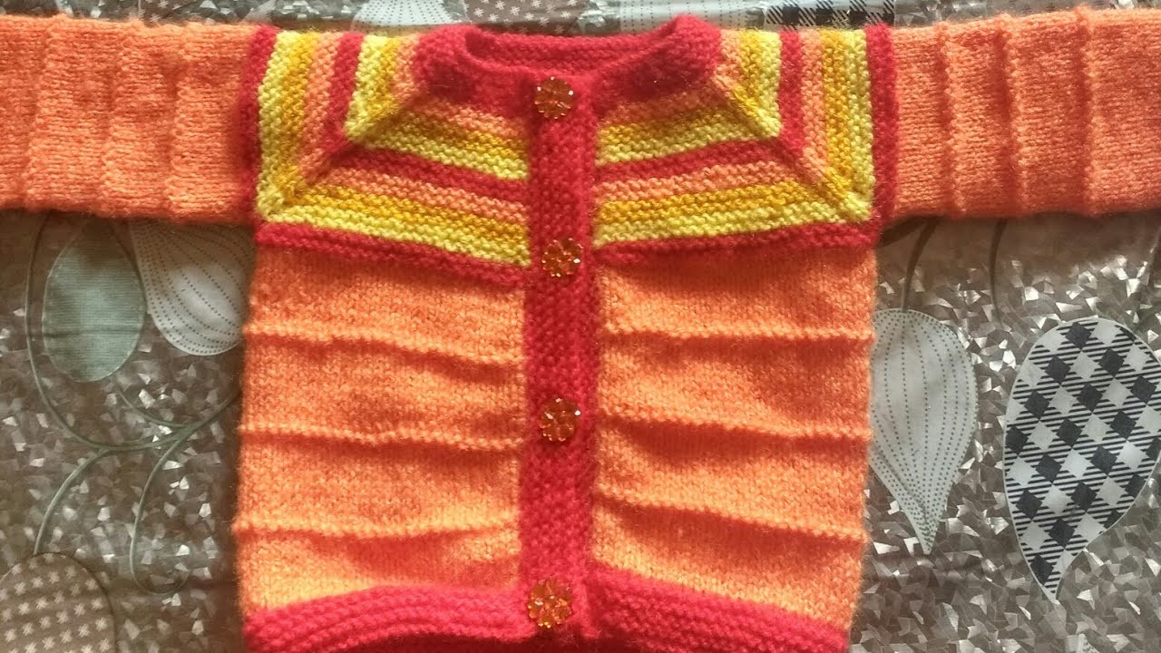 BABY SWEATER FROM NECK PART 2 (HOW TO PICKUP BUTTONBAND STITCHES)