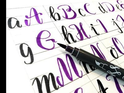 Beginner Brush pen handlettering Capital letters   How to Hand Letter